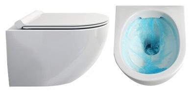 WC MISA VIERA bez obrúčok pripojí 49 cm + PALUBE DUROPLAST SLIM