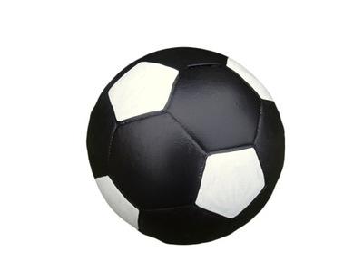 Pokladničky peniaze box PRASIATKO futbalovej LOPTY ČIERNO-BIELA