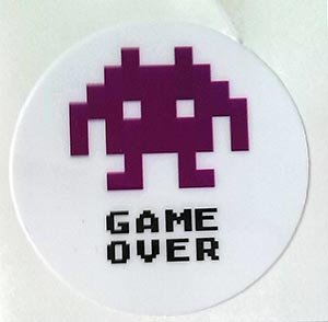 GAME OVER fioletowe 40 ATARI COMMODORE SPECTRUM