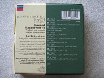 J.S. BACH SACRED MASTERWORKS 10 CD + książeczka