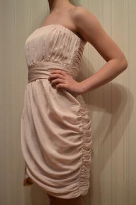 2a60ae0c Koktajlowa sukienka 38 pudrowy róż - 6885960130 - oficjalne archiwum ...