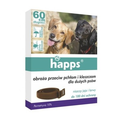 Happs ошейник против pchłom и клещей 60 см