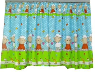 Záves do detskej izby - KRAŤASY, dekoračné záclony 100/150 sada 2 kusov