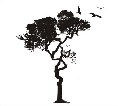 NÁLEPKY na mužov VELÚROVÉ nálepky strom cieľ
