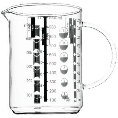 Odmerka, váha - WMF Szklany dzbanek z miarką 1l ml, gramy