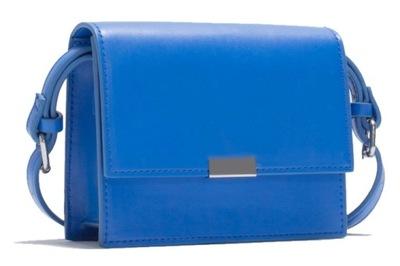 6080cde3708fc ZARA nowa listonoszka błękitna zamsz torebka skóra - 5995524550 ...