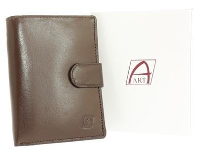 07550e35a771a Stylowy portfel męski skórzany vintage palony brąz 7722021170 ...