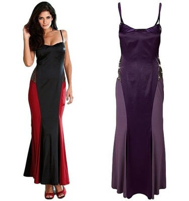 0d302836f5 Sukienka MAXI ZDOBIONA WESELE 3XL 46 7422949717 - Allegro.pl