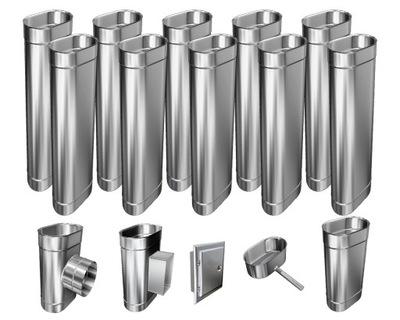 Kotol - 1mm CHIMNEY INSERT 12m 110x240 Tepelne odolný HIT