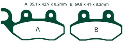 Klocki ADIVA SCOOTERS AD AR 125 200 BAROSSA XS 125