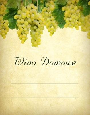 метки вино домашние белое ВИНОГРАД 10x
