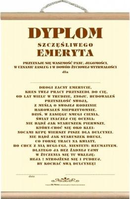 Dyplom Prezent Na Emeryturę Emerytki Emeryta 7267883978