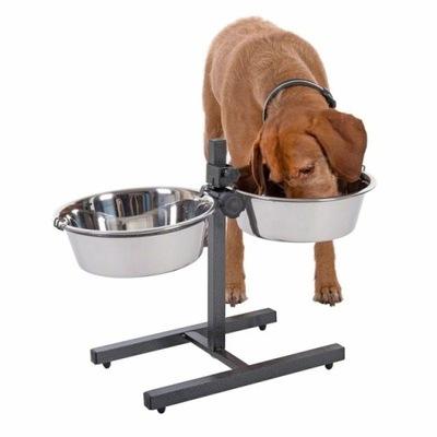 Миски на регулируемой стойке для собаки 2 x 4 ,7 L