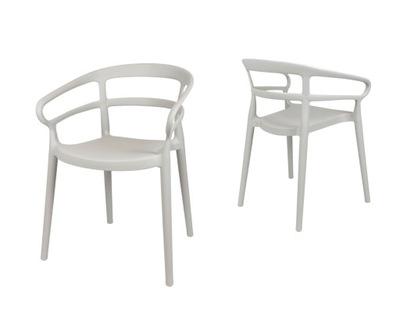 Светло-серый стул для сада Терраса KR063 ГЛАВНЫХ