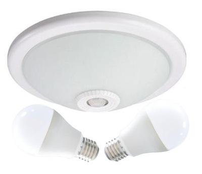 Svietidlá stropné svietidlá - Oprawa plafon z czujnikiem ruchu 360st. LED 2x10W