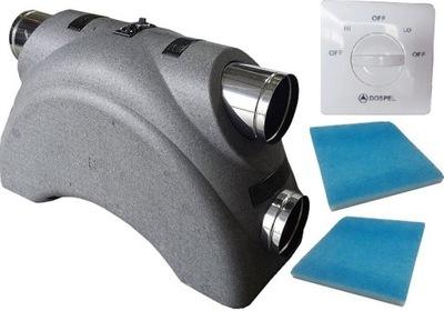 центральная рекуператор LUNA 350 DOSPEL + пульт +фильтр