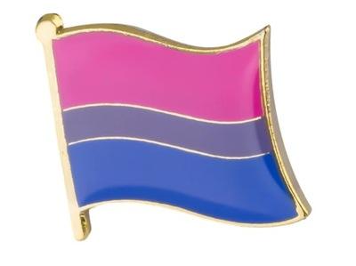 ФЛАГ Pin застежка радуга ЛГБТ - БИСЕКСУАЛЫ