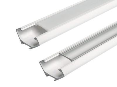 Профиль LED угловой 2м для лент LED + АБАЖУР