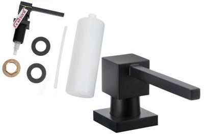 Zásobník na tekuté kuchynské mydlo CARO z mosadze čierny