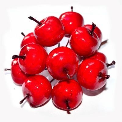 Райские яблока красное на нити 6 штук .
