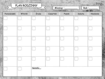 Kalendár, Plánovač, magnetické Dosky na chladničky