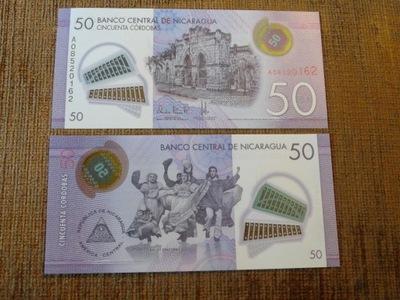 322.NICARAGUA 50 CORDOBAS UNC ПОЛИМЕР