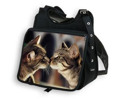 33a2c6dd8ab99 Torba ekologiczna dżinsowa Kot Koty dwa Prezent 5978798361 - Allegro ...