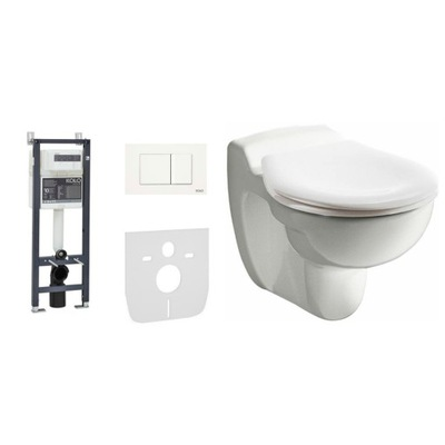 WC misa - V BLÍZKOSTI misky 35 cm nad tlačidlom rámčeka podlahy