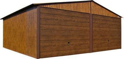 Гаражи из листового металла, 6x5 гараж деревянных Дуб -Орех