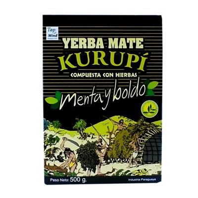 Yerba Mate Kurupi Compuesta Мента Boldo Ноль ,5 кг 500 г