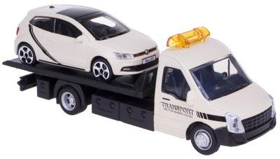 AUTO LAWETA + VW POLO GTI BBURAGO 1:43 KREMOWY