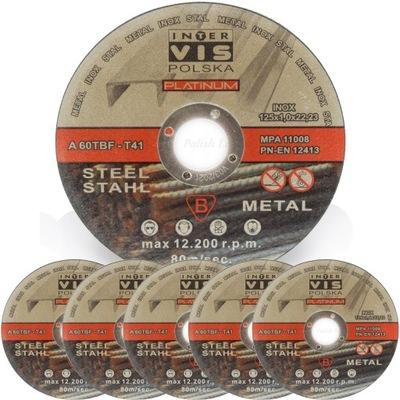 Štít pre rezanie kovov InterVis INOX 125x1 - 50pcs