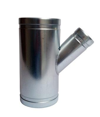 zníženie Tee 2x120/1x60mm kapota spiro hadice
