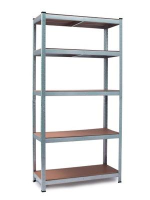 Стеллаж складской металлический 150x75x30 см 5 полок