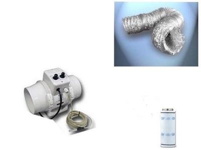 Záhradné svietidlo - Ventilátor FI200 Uhlíkový filter 1000GROWBO