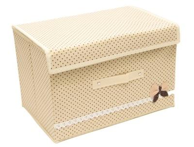 коробка ЕМКОСТЬ закрывается organizer 48x38x28 beżow