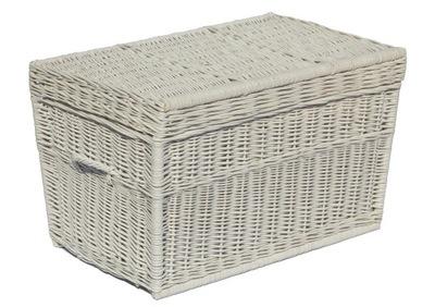 плетеный сундук коробка плетеная Корзина 90 см Белый
