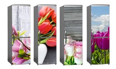 NAKLEJKA foto okleina NA LODÓWKĘ kwiaty floral HIT