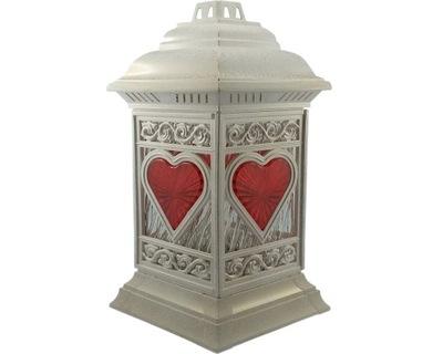подсвечник лампадки, фонарики фонарики СОБОР сердце Белый