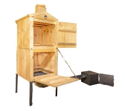 коптильня для сада деревянная ТРУБА БОЛЬШАЯ 50x50x170