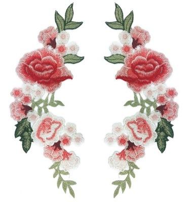 комплект 2 штуки полоса большая роза цветы вышивка