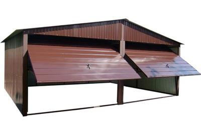Гаражи из листового металла, 6x5 гараж Железный Коричневый жесть