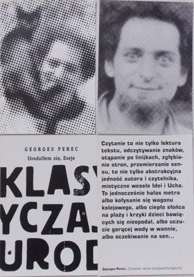 Georges Perec Реклама книги я РОДИЛСЯ. ЭССЕ