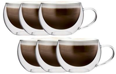 Sada 6 Šálok Dvojité Steny Kávy 300 ml