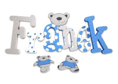 3D ornament do izby - 3D písmená 20cm meno dieťaťa NEJU 6ks + ZADARMO!