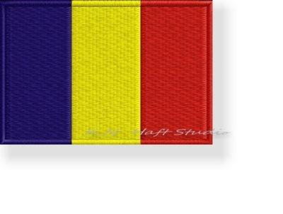 ПОЛОСА термо флаг Румыния , ROMANIA 60x40mm