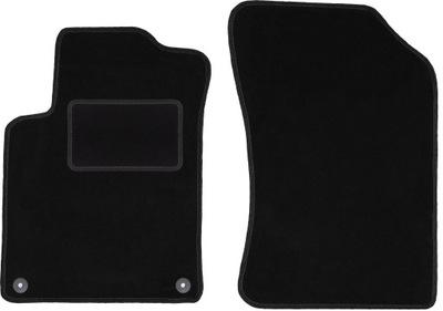 czarne dywaniki welurowe 2szt: Citroen DS3 (09-16)