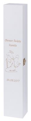 Prvé sv. prijímanie - BOX DO SVETA, gromnica CHRZEST KOMUNIA GRAWER
