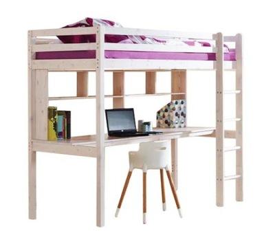 Postele poschodové postele pre deti s písací Stôl 160x80 CLEO
