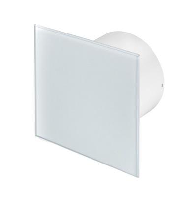 Ventilátor - Kúpeľňový ventilátor Biele sklo C. Výška 125 mm